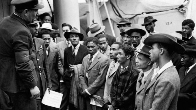 Windrush generation members arrive