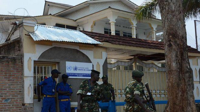 Le bureau du Haut-Commissariat des Nations-Unies pour les droits de l'homme à Bujumbura en 2015