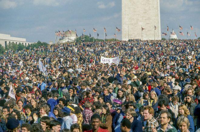 شرکت کنندگان راهپیمایی ملی در واشنگتن، محوطه بزرگ نشنال مال ( صحن ملی) را پر کردند.