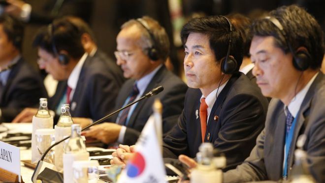 Bộ trưởng 16 quốc gia tham gia RCEP họp tại Bangkok hôm 1/11.