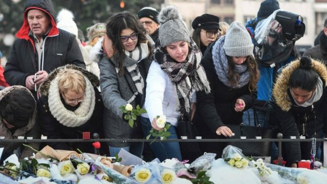 Strasbourg Christmas Market Shooting.Strasbourg Christmas Market Shooting Fifth Victim Dies