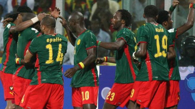 Les joueurs du Cameroun Campions 2017 de la CAN au Gabon