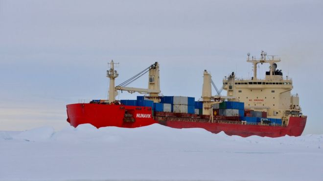 is the arctic set to become a main shipping route bbc news