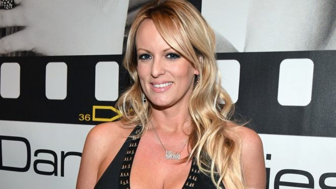 Stormy Daniels Poses At A 2017 Adult Entertainment Convention