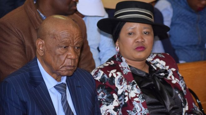 Lesotho's Prime Minister Thomas Thabane and his wife Maesaiah