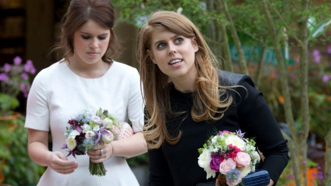 Beatrice and Eugenie at the Chelsea Flower Show 2016