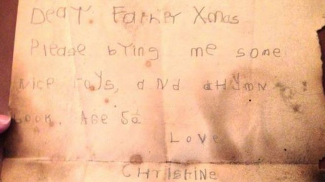 Father Christmas Letter From The 1930s Found Up Powys Chimney Bbc News