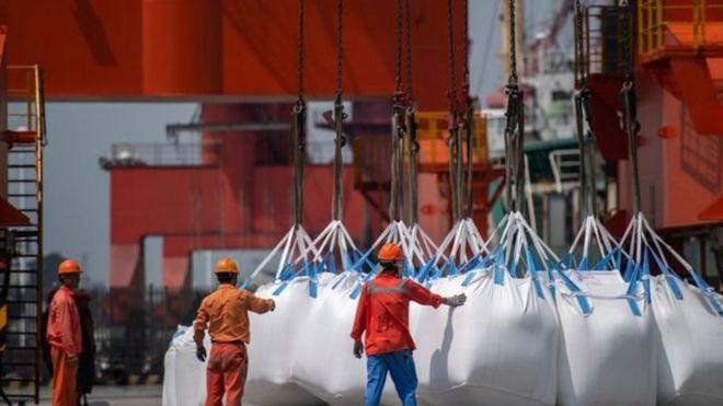 Hóa chất nhập khẩu tại cảng Zhangjiagang ở Trung Quốc