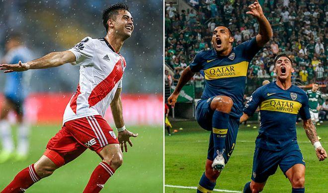 58bac31935efa Boca Juniors vs. River Plate en la final de la Copa Libertadores ...