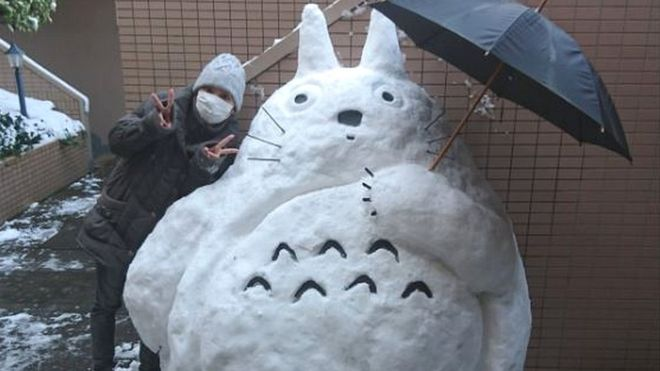 Snow sculpture in Japan