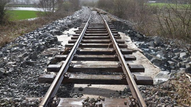 Damage to the tracks