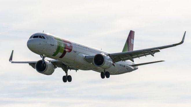 Avión de TAP.