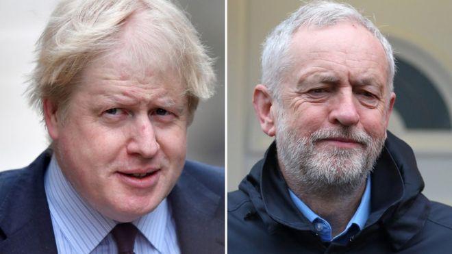 Boris Johnson, Jeremy Corbyn