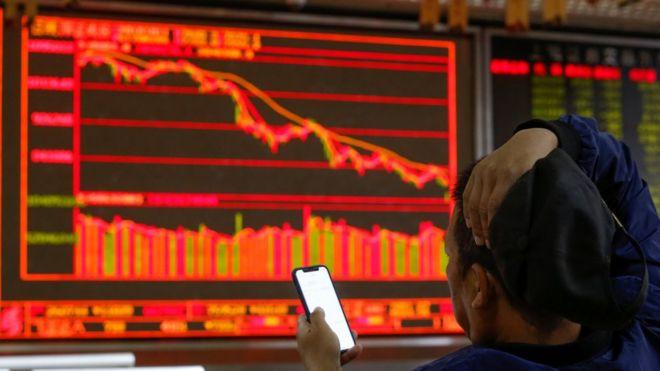 中國股市在周四跟隨美國股市大跌。