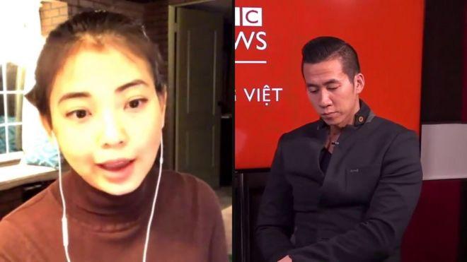 Cô Nancy Nguyễn và anh Will Nguyễn trong buổi phỏng vấn của BBC Tiếng Việt hôm 5/12