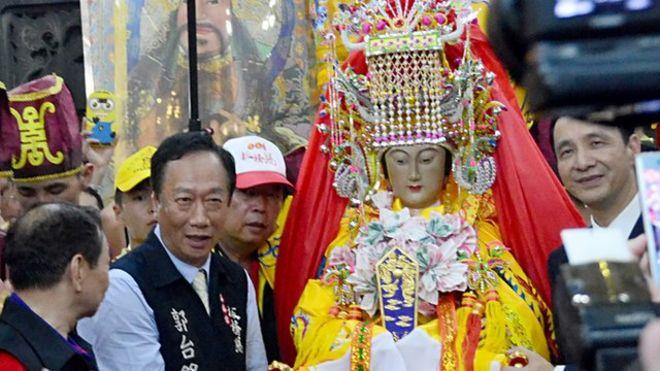 湄洲媽祖在20年之後再次登上台灣,受到信眾大規模歡迎。