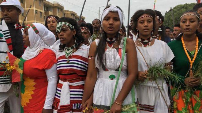 Shamarran Oromoo godinaalee garaagaraa irraa dhufun ayyaanicha irratti argaman