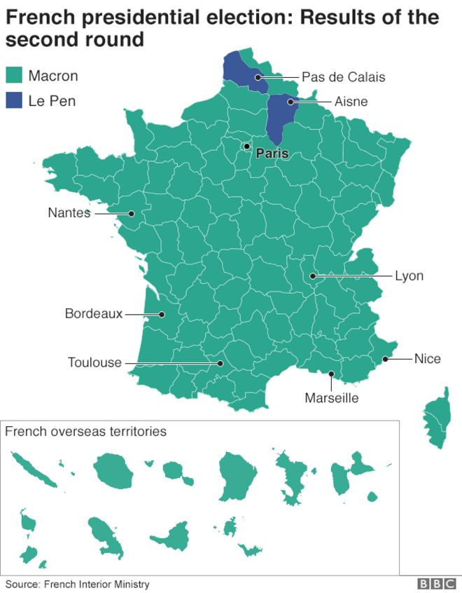 Results Of The Second Round Of The French Presidential Election