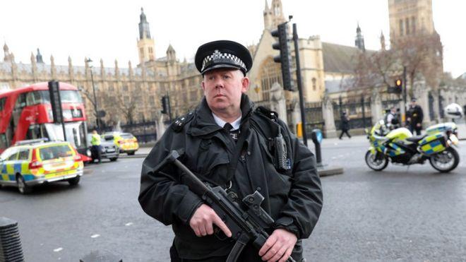 Policía en Westminster