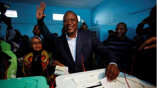 اوهورو کنیاتا برای بار دوم رییس جمهوری کنیا شده است