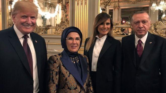 اردوغان، همسر ترامپ، همسر اردوغان و ترامپ