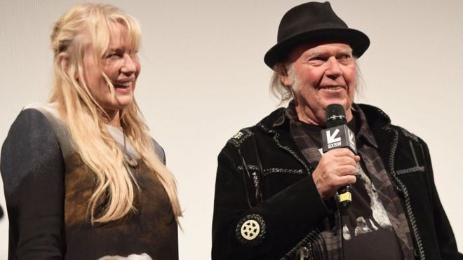 Daryl Hannah and Neil Young at South By South West Festival