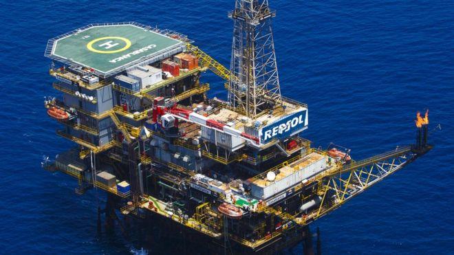 Một giàn khoan của tập đoàn Repsol - hình chụp không phải ở Biển Đông và chỉ có tính minh họa
