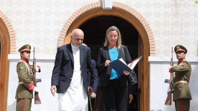 موگرینی در کابل طرح اروپا در زمینه همکاری و تقویت دولتداری در افغانستان را اعلام کرد