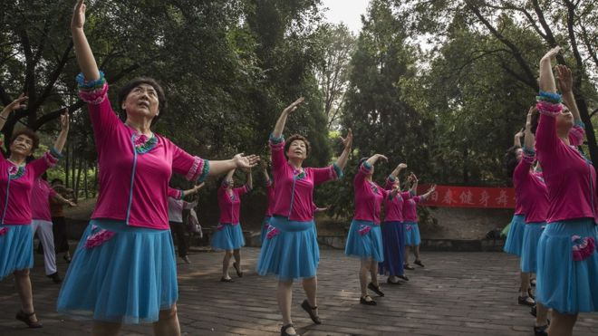 廣場舞是深受中國婦女歡迎的運動方式。