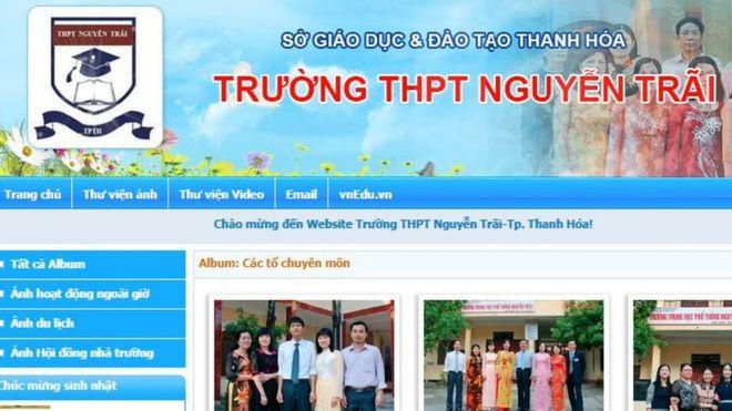 Trường THPT Nguyễn Trãi, Thanh Hóa tự giới thiệu là tỷ lệ học sinh đỗ vào đại học cao đẳng trong những năm gần đây đều trên 70%