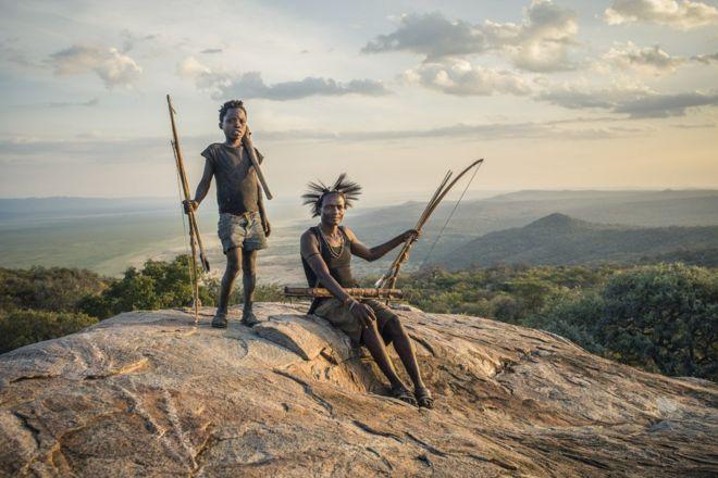 Hadza hunters in Tanzania