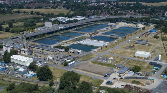 Thames Water's Hampton Water Treatment Works, in Surrey