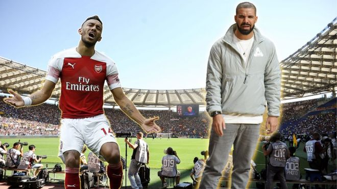 94eed072fef Drake s sport curse  Roma  bans  players taking photos with rapper - BBC  News