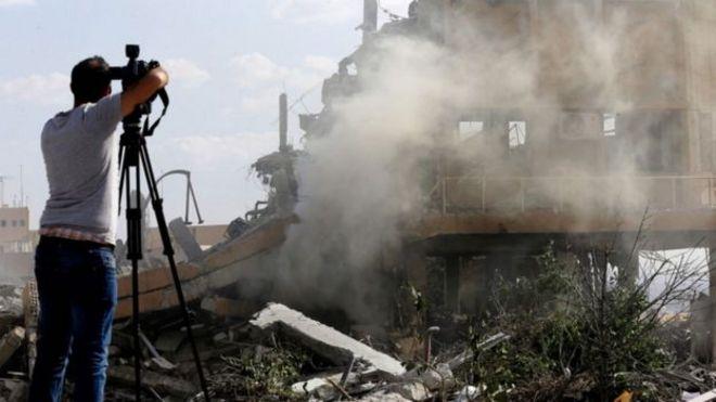 Syria, tấn công tên lửa