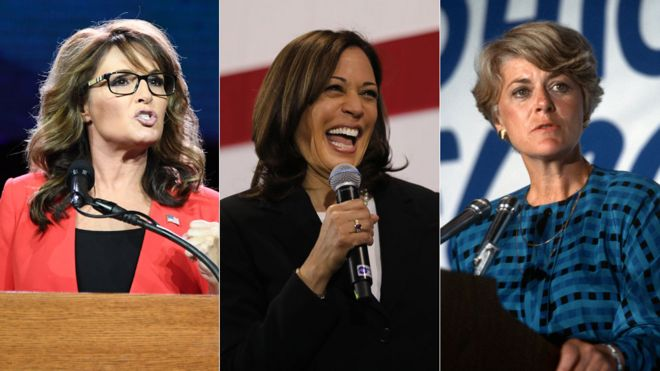 Sarah Palin, Kamala Harris and Geraldine Ferraro
