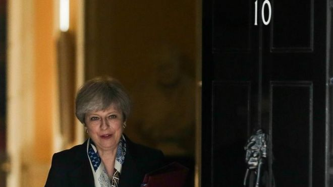 Theresa May leaving No 10 for the State Opening of Parliament