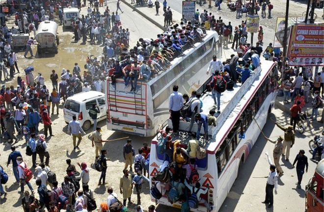 Hundreds of thousands of migrant workers have returned home to Uttar Pradesh and Bihar since the lockdown began