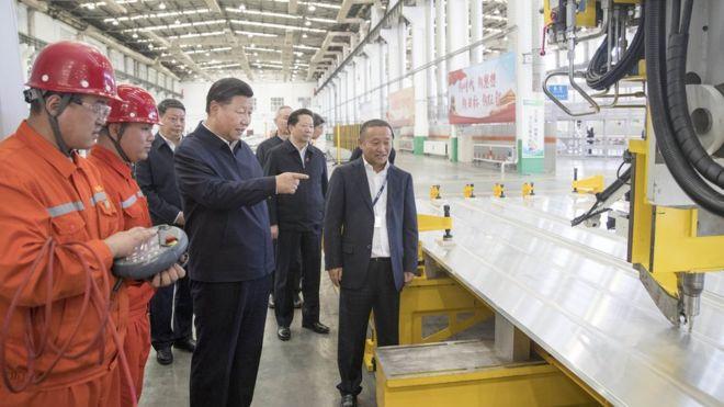 """習近平在東北三省考察期間,指中國""""必須走自力更生的道路""""。"""