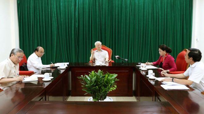 Hình ảnh cuộc họp ngày 14/5, ảnh của Thông tấn xã Việt Nam công bố