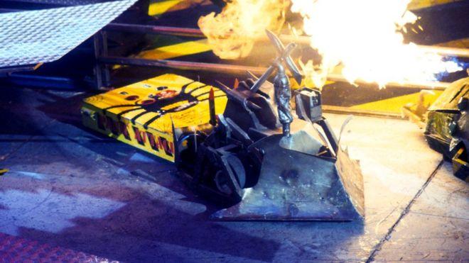 Robô em chamas
