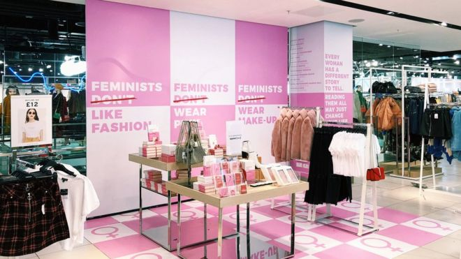 92531fde4 Topshop dismantles feminism pop-up - BBC News