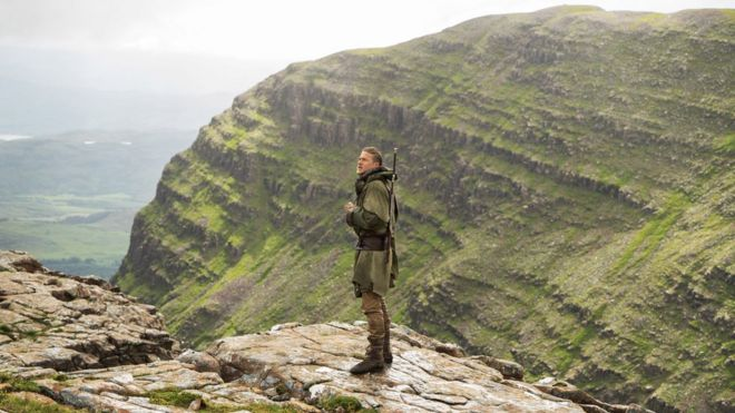 arthur star tells of being excited about highlands scenes bbc news