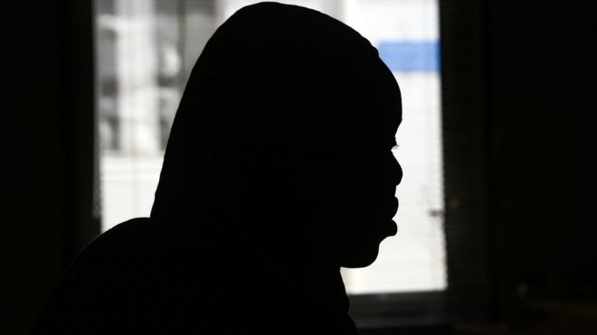 A victim of sexual abuse during an interview in Khartoum, Sudan