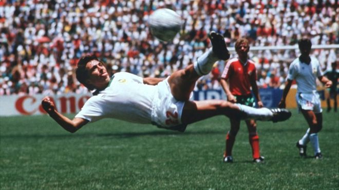 Resultado de imagen para gol negrete mexico 86