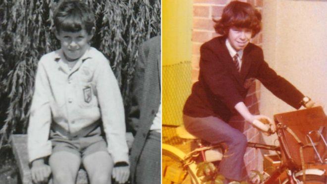 Jon Ward as a school boy