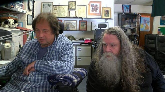 Марг МакНил (справа) со своим деловым партнером Тревором Палмером (слева)