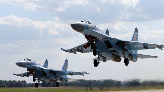 中國2015年向俄羅斯訂購24架蘇-35戰機,將到今年內完成付運。