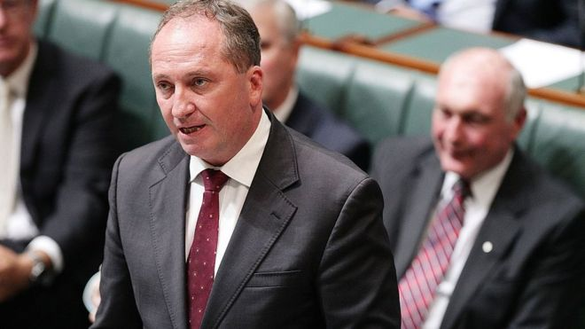 Barnaby Joyce speaks in Australia's parliament