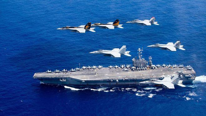 Một tàu sân bay của Mỹ