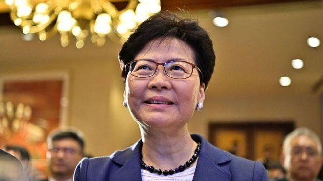 Carrie Lam: The controversial leader of Hong Kong _107389543_hi054550092